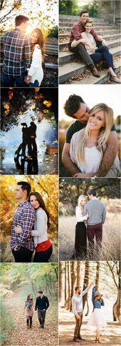 Verlobungsfotos »23 Kreative Herbst Verlobungsfotos Ideen, die ich …  #herbst #ideen #kreative #verlobungsfotos