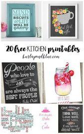 Kitchen art wall ideas free printables 68 | Inspira Spaces