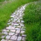 Pflastersteine, schöner Weg