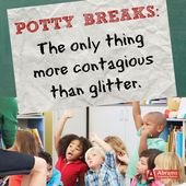 "Elementary lecturers know! ""Potty Breaks: The one factor extra contagious than gli…"