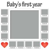 Baby's first year / Presonalised photo on canvas print – Products