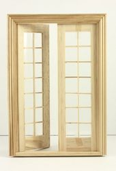 1 12 Scale Classic Double French Door With Images Double French Doors French Doors Doll House