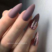 Pink Mauve Für klassische French Manicure #mauvenails   – mauve nails