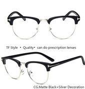 IVSTA TF 8015 Optical Frame Half Rim Glasses Eyeglasses Frames for Men Myopia Fashion Brand TF Custom Nerd Oversized Demi – Eyewear Frames