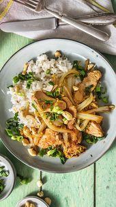 Putenbrust-Chinakohl-Pfanne mit Teriyakisoße, Cashewkernen und Kokosmilchreis – Heiß auf Reis | Rezepte mit Reis