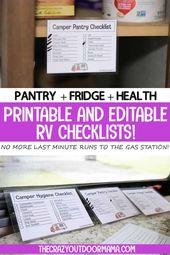 43 Emballage RV Food + Health pour un grand voyage de camping en famille! [Editable PDFs!]   – Camping Checklist