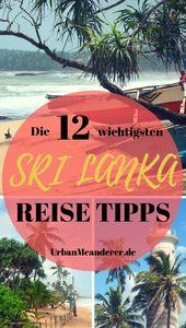 Die 12 wichtigsten Sri Lanka Tipps, die du unbedingt kennen solltest
