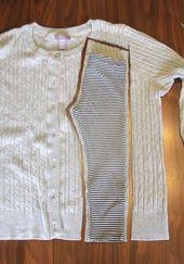 süße und bequeme Leggings aus einem Pullover