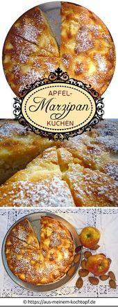 Obwohl wir fantastische Apfelkuchenrezepte haben, gehört dieser Apfel zu Marzipan …   – Backen süß und herzhaft