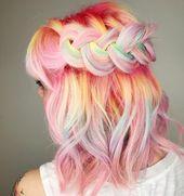 Pastellfarbene Haarfarben für dunkle Haut im Jahr 2019 wirken nicht nur im Frühling / Sommer …  – Pastel Hair Color