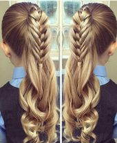 17 Adorable Heart Hairstyles – Cute Hairstyles for kids You Will LOVE! – #Adorab…