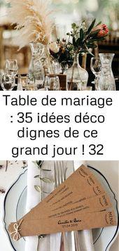 Table de mariage : 35 idées déco dignes de ce grand jour ! 32