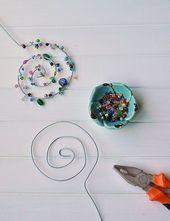 Épingles à fleurs en fil métallique et perles elles-mêmes – le sentiment de bien-être de Smilla   – DIY Geschenke