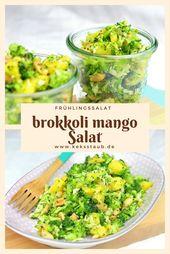 {TM Thursday} Broccoli Mango Roher Salat   – Healthy Recipes