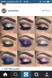 Trendy nails purple prom eye makeup 45+ ideas [ad_1]  Trendy nails purple prom e…