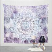 Goldbeing indischer Wandteppich Wandbehang Mandala Tuch Wandtuch Gobelin Tapestr…