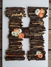 Woodland Baby Shower Decor, Rustic Stick Letter, Woodland Nursery Decor, Rustic …  – Baby Shower