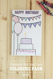 Birthday Coloring Pages Birthday Card Drawing Birthday Coloring Pages Happy Birthday Cards Diy