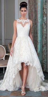 Top 15 Wedding Dresses High and Low #Wedding Hairstyle …