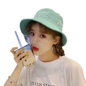 Women summer cute sweet cartoon pattern double wear sunscreen flat folding bucket hat – Products