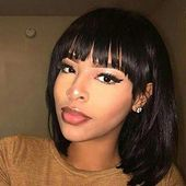 Enjoy exclusive for Wiggins Short Straight Hair Bob Wigs Brazilian Human Hair Wigs  Women Glueless Machine Made Wigs Natural Color (12inch) online – Allpremiumideas
