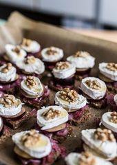 Aperitivo y aperitivo de año nuevo   – Silvester – leckeres Essen und Deko
