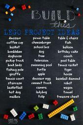 Baue dies – LEGO Projektideen   – Lego Ideen