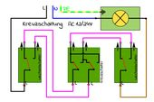 Changeover circuit and cross-circuit with circuit diagram