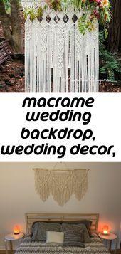 Macrame wedding backdrop, wedding decor, large macrame wall hanging, wedding ceremony backdrop, b 27
