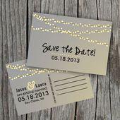 Invitations  Save the Date: Lichterkette