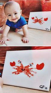 25 Spaß und schöne Handabdruck und Fußabdruck-Bastelarbeiten für Ihre Kinder, um diesen Sommer zu gestalten