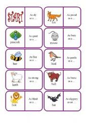 English Worksheet Animals Similes Dominoes Simile Picture Writing Prompts Worksheets