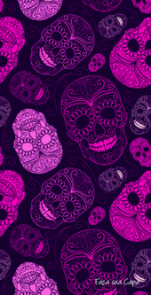Download the best 37 Day of the Dead Wallpapers   – Sugar skull patterns
