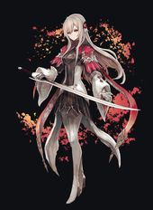 admire the character art from square enix s gorgeous rpg oninaki anime knight character art anime character design