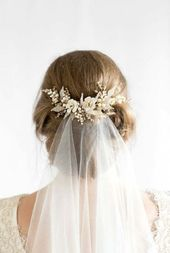 18+ Ideas Bridal Hairstyles With Vail Headpieces Swarovski Crystals