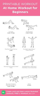 At Home Workout for Beginners · WorkoutLabs Fit