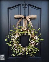 CHERRY BLOSSOMS, Cherry Blossom Wreath, Pink Flower Wreath, Berry Wreaths, Cherry Trees, Blossoming Cherry Trees, Spring Blossom Wreath – WREATHS