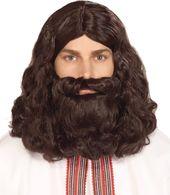 Fancy Dress Fake Beard Halloween Costume Party Hair Moustache Wig Funny Decor YD