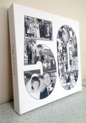 50th Birthday Gift Collage – Canvas Print – Premium Hand Made in UK