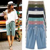 2018 Sommer Frauen beiläufige lose Harajuku Hosen Capris Streetwear   – Casual outfits 2018