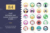 Database and Cloud Technology Icons by Vectors Market on Creative Market