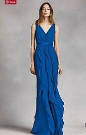 (eBay link) Vera Wang Bridesmaid Dress Size 6 V-Neck Wrap Bodice- Worn Once  #cl… – We Are eBay