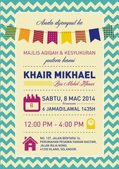 Show The Love Invitation For Aqiqah Khair Mikhael Invitation Card Maker Invitation Card Sample Invitation Template