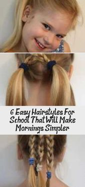 6 Easy Hairstyles For School That Will Make Mornings Simpler – Hairstyle 6 Easy …