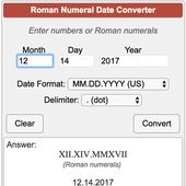 Write a date in Roman numerals. Use this converter as a Roman numeral translator…