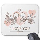 Adorable Lovebirds In Love Valentine   Mousepad   Zazzle.com