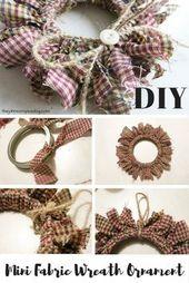 Photo of Einfache und billige DIY Stoff Ornamente für Weihnachten