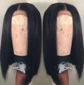 14 Inch Straight Bob Wigs For African American Women The Same As The Hairstyle In The Picture - Human Hair Wigs For Black Women