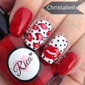 Über 100 einfache Nail Art Designs zum Valentinstag   – NAILS