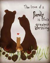 Erstellen Sie ein niedliches Familienbären-Andenken, indem Sie die